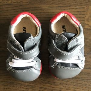 Baby see Kai run shoes 0-6 months gray red